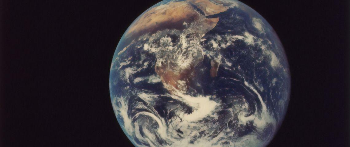 La planète Terre vue du ciel