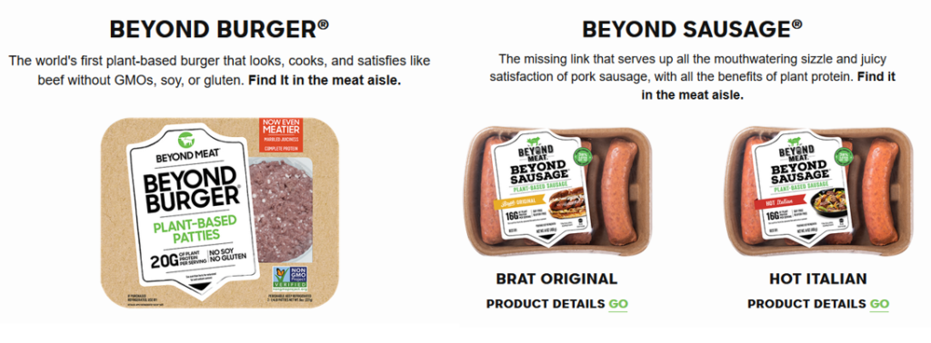 Visuel du Beyond Burger et Des Beyond Sausage