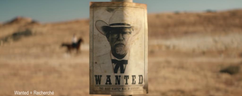 Affiche Wanted du Colonel Sanders de KFC