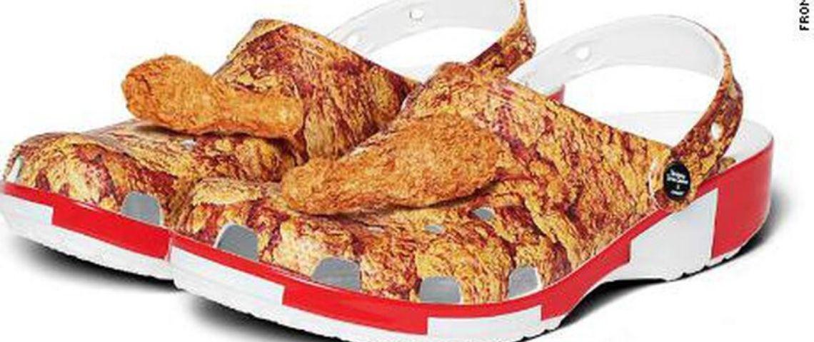Visuel des crocs réalisées en partenariat avec KFC
