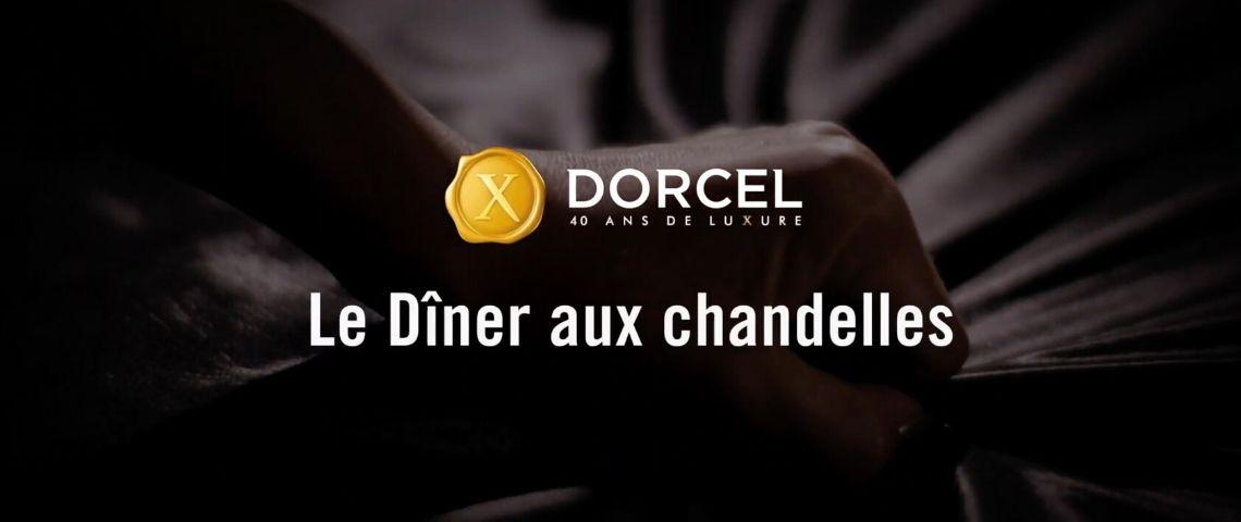 Affiche Dorcel pour le coffret Diner aux Chandelles
