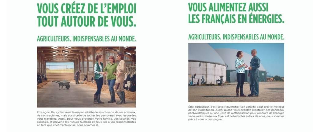 Capture d'écran des affiches de la campagne Groupama