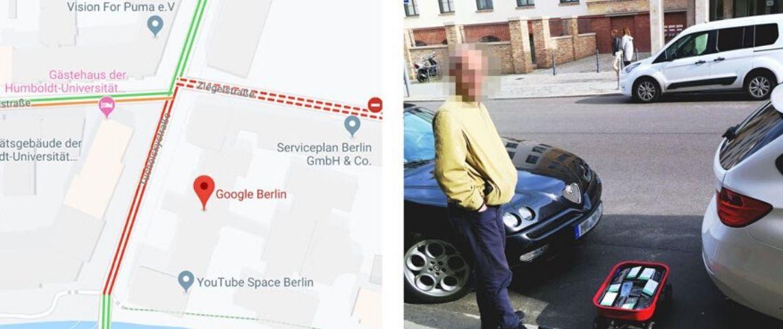 Cet artiste a hacké Google Maps en générant un faux embouteillage