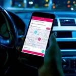 Smartphone avec une page ouverte sur un GPS