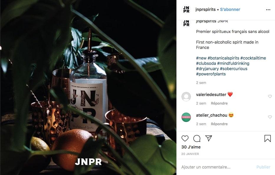 Instagram de la marque JNPR