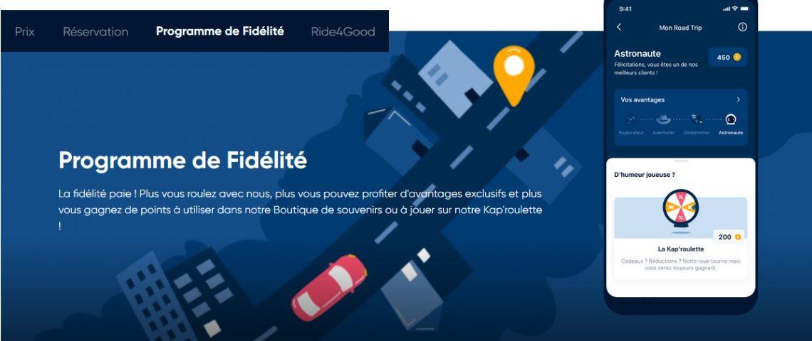 Capture d'écran du site Kapten