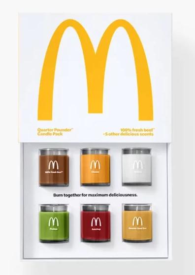 Coffret de bougies senteur Royal Cheese de McDonalds
