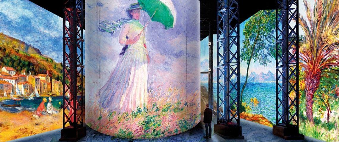 exposition de tableaux immersive