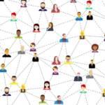 Pictogramme de personnes en réseau