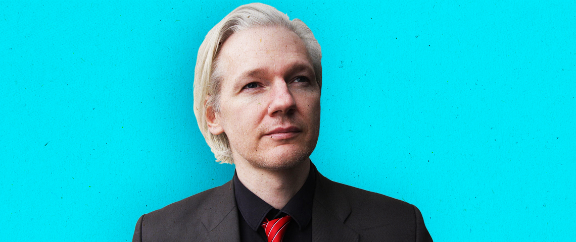 portrait de julian assange