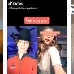 des captures d'écrans de vidéo virale TikTok avec des arguments pour voter pour un candidat