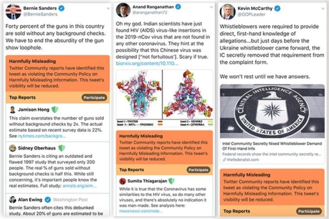 Capture du test en cours pour identifier les Fake News sur Twitter