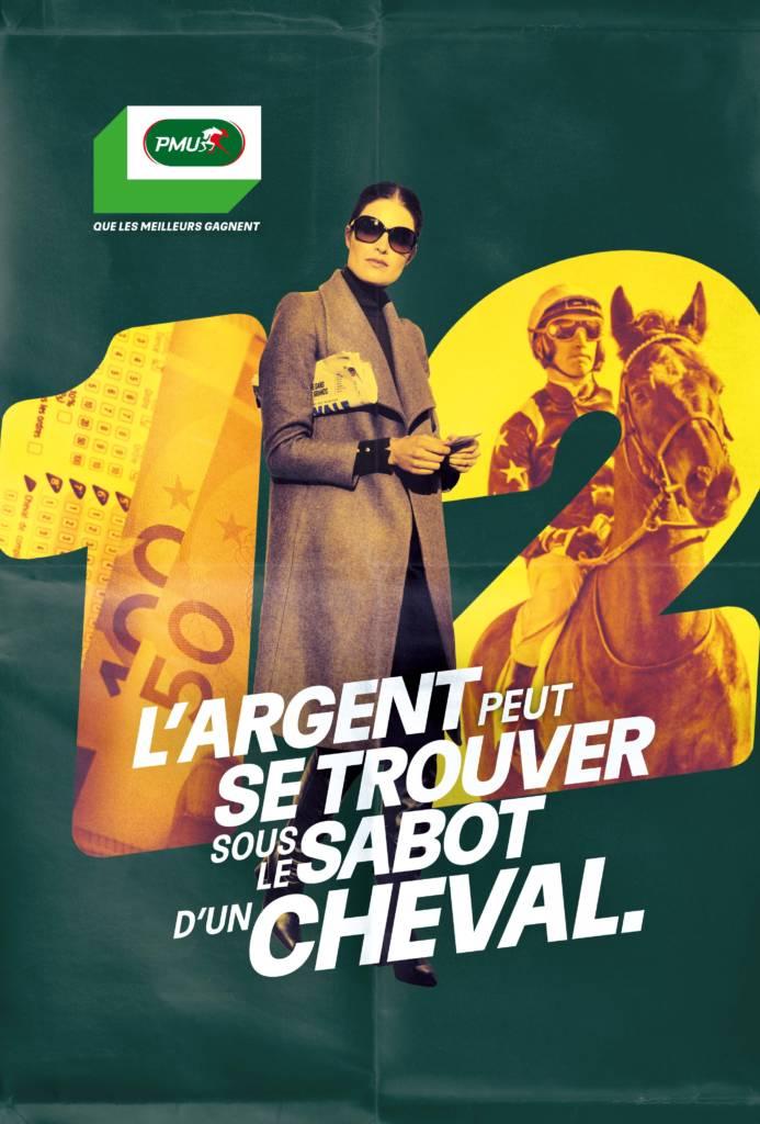 Affiche campagne publicitaire PMU