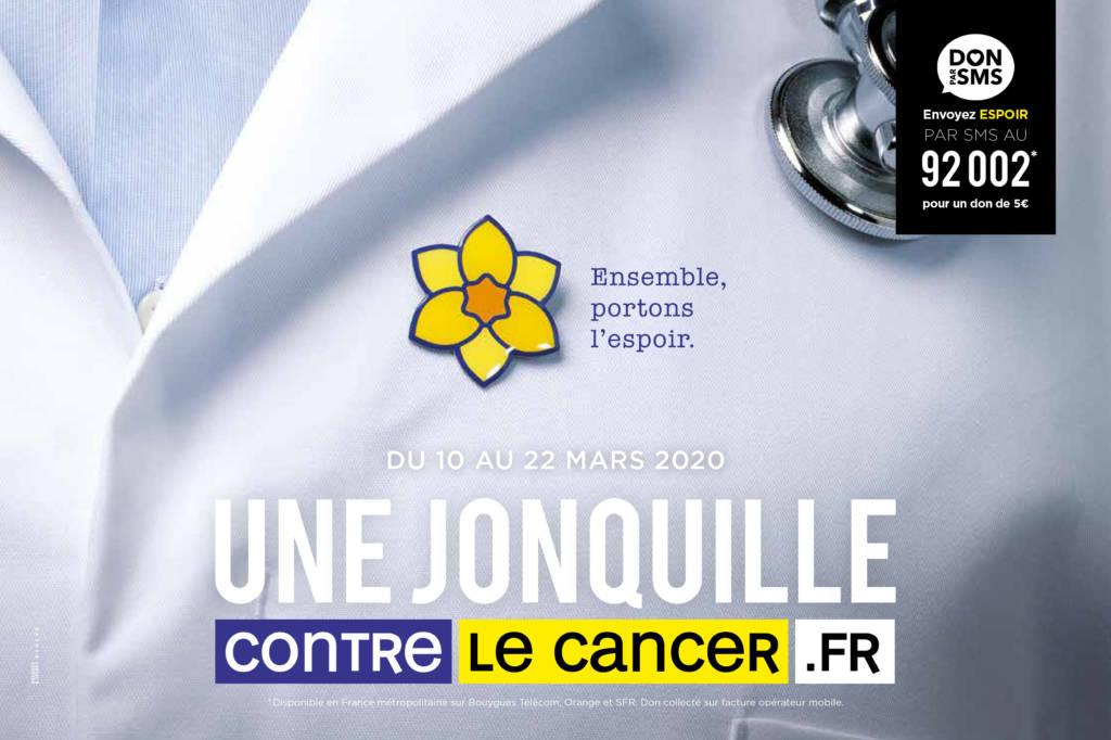 """visuel de la campagne """"une jonquille contre le cancer"""""""