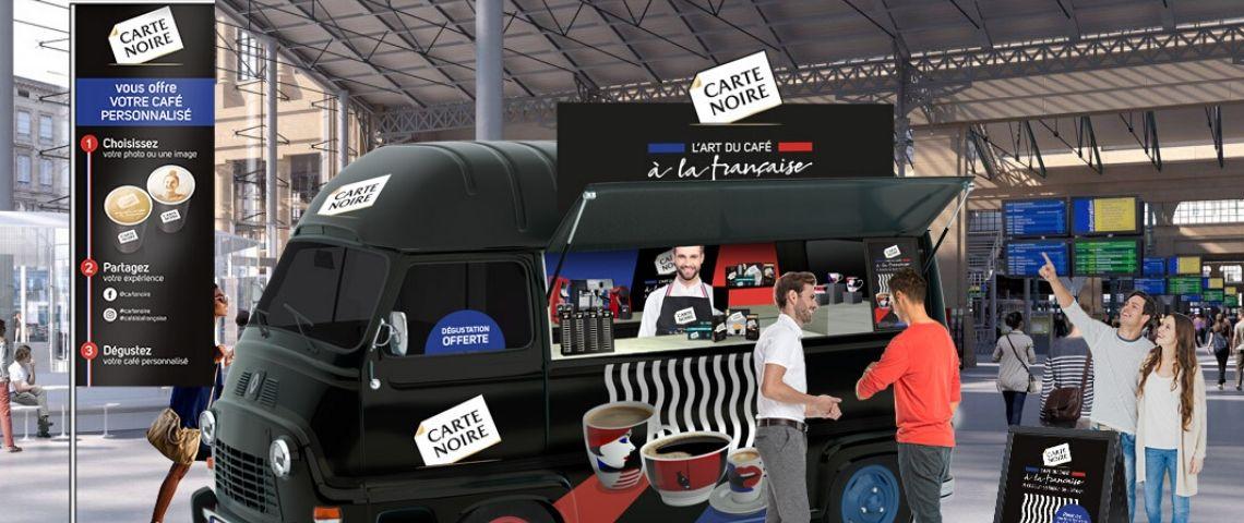 Camion pour l'animation Carte Noire