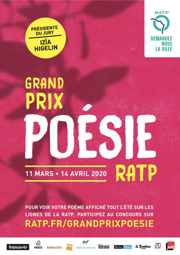 Affiche du grand prix poésie RATP