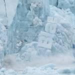Un glacier qui s'effondre à cause du réchauffement climatique