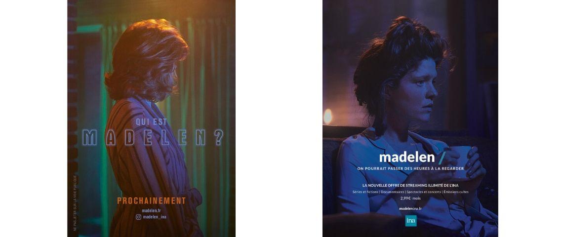 Capture d'écra nde la campagne pour la plateforme Madelen