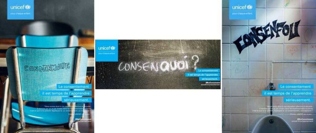 Affiche de la campagne du conseil des jeunes de l'UNICEF