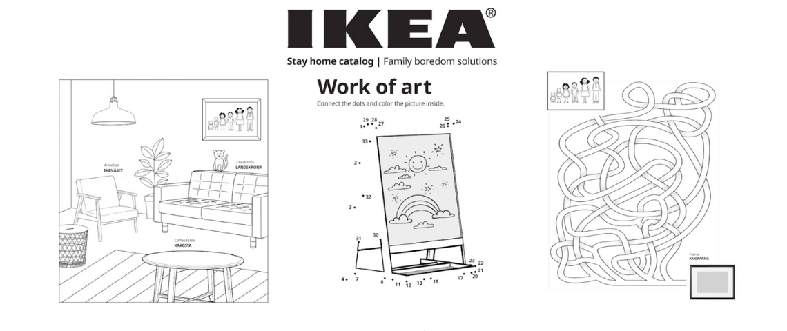 Une partie du catalogue IKEA à colorier