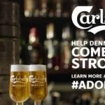 Un fût de bière Carlsberg