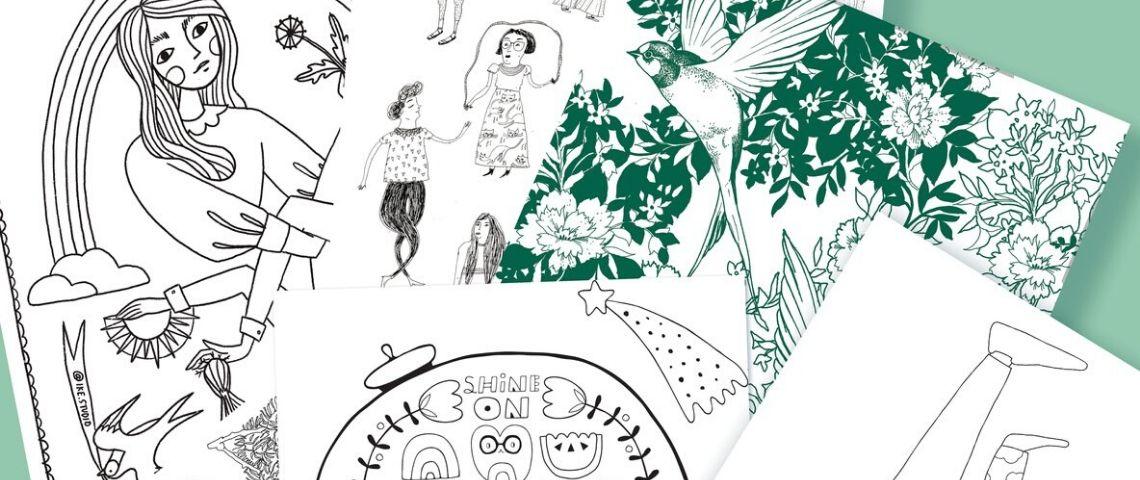 Des illustrations à colorier