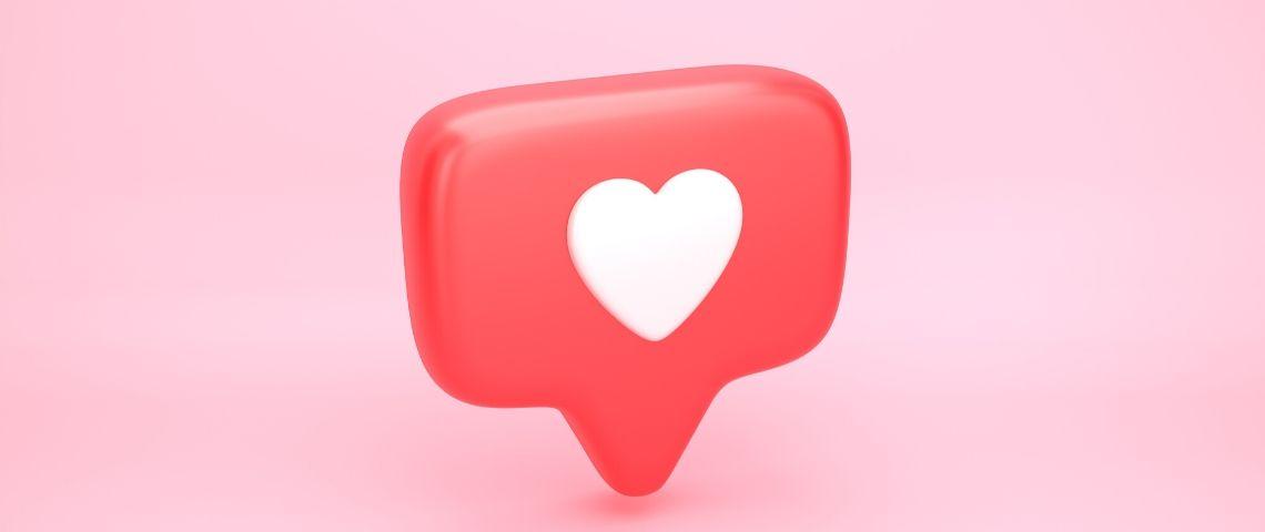 coeur like réseaux sociaux