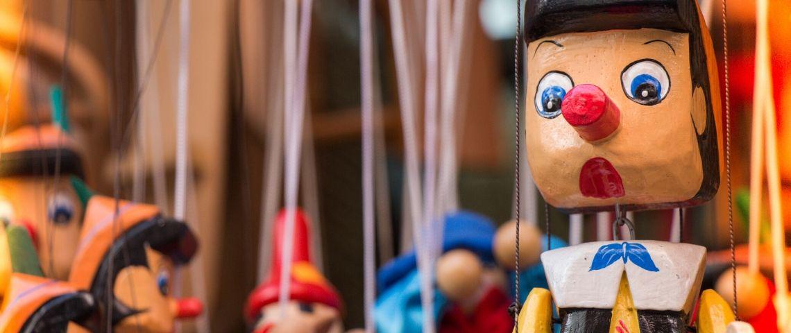 Une marionnette de Pinocchio
