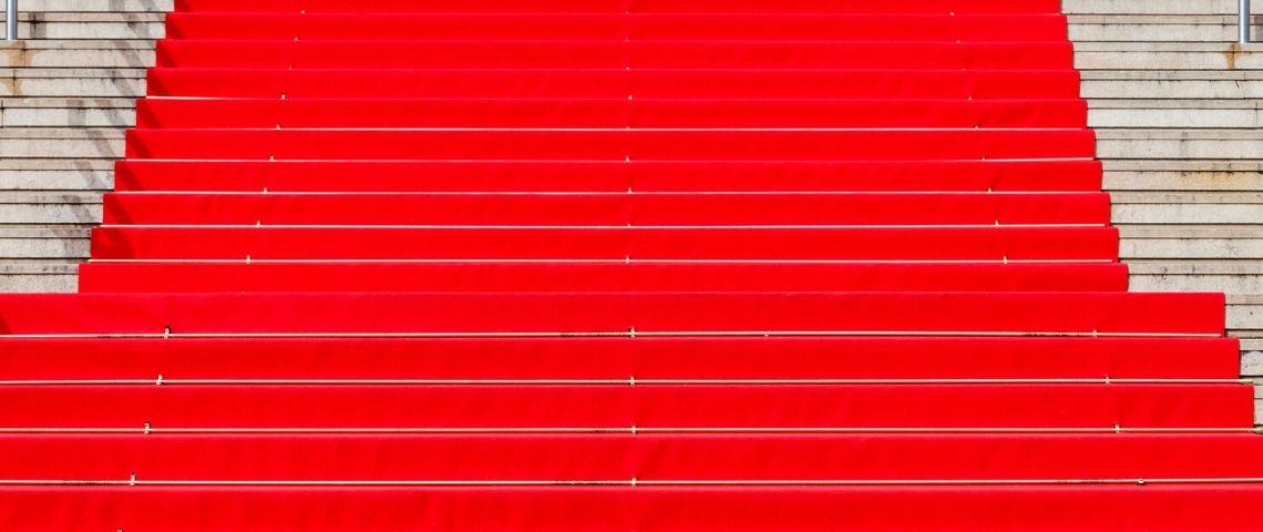 le tapis rouge de cannes désert