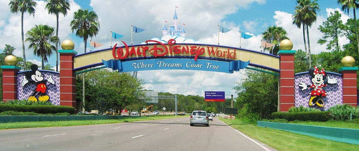 Entrée du parc Disney World en Floride