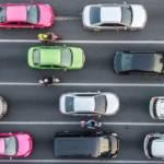 Un embouteillage vu de haut