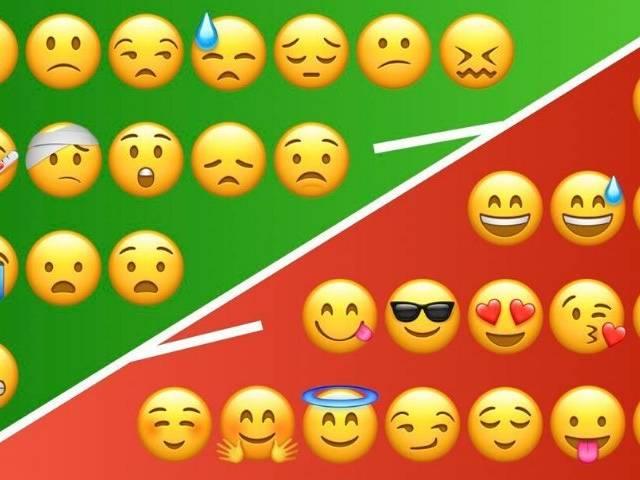 emojis négatifs et positifs