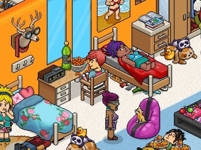 Capture d'écran du jeu Habbo