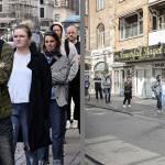 Deux photographies de Danois qui font la queue avec un angle différent