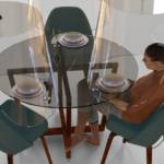 un design en plexiglas pour une table de restaurant