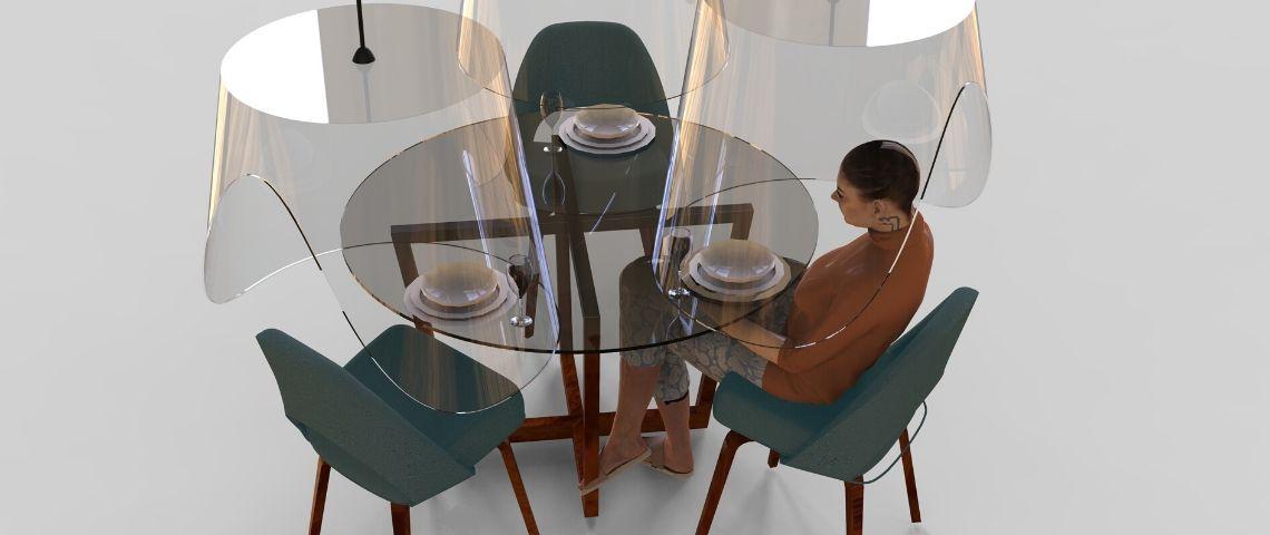 un design en plexiglas pour une table de restaurant