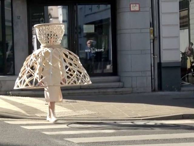 robe panier moderne