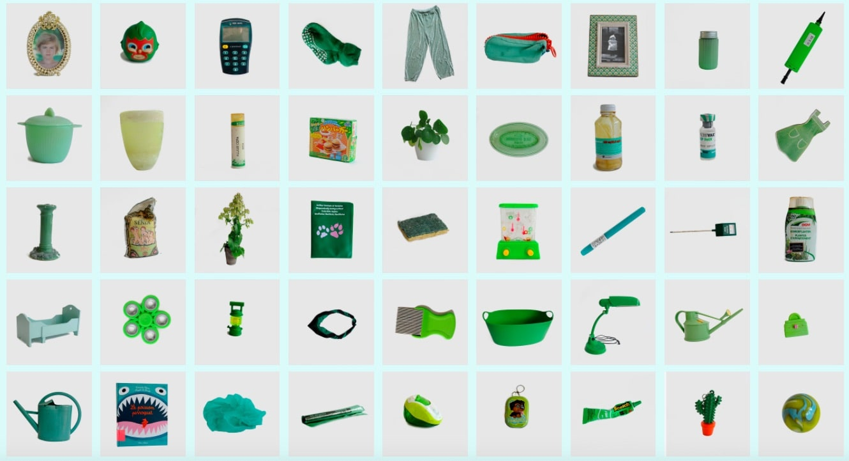 catalogue d'objets verts