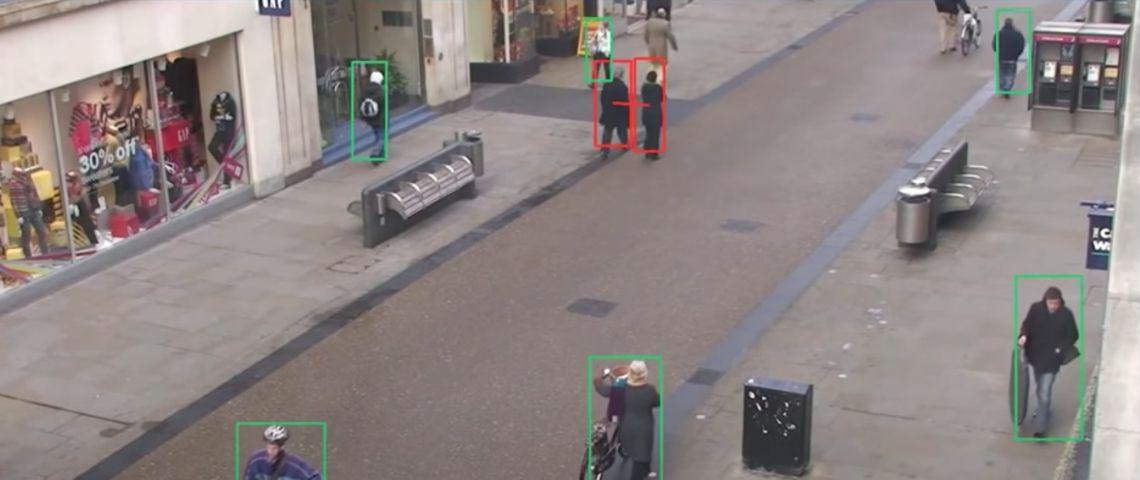 Image d'une caméra de surveillance dans une rue