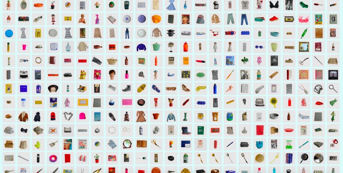 catalogue d'objets