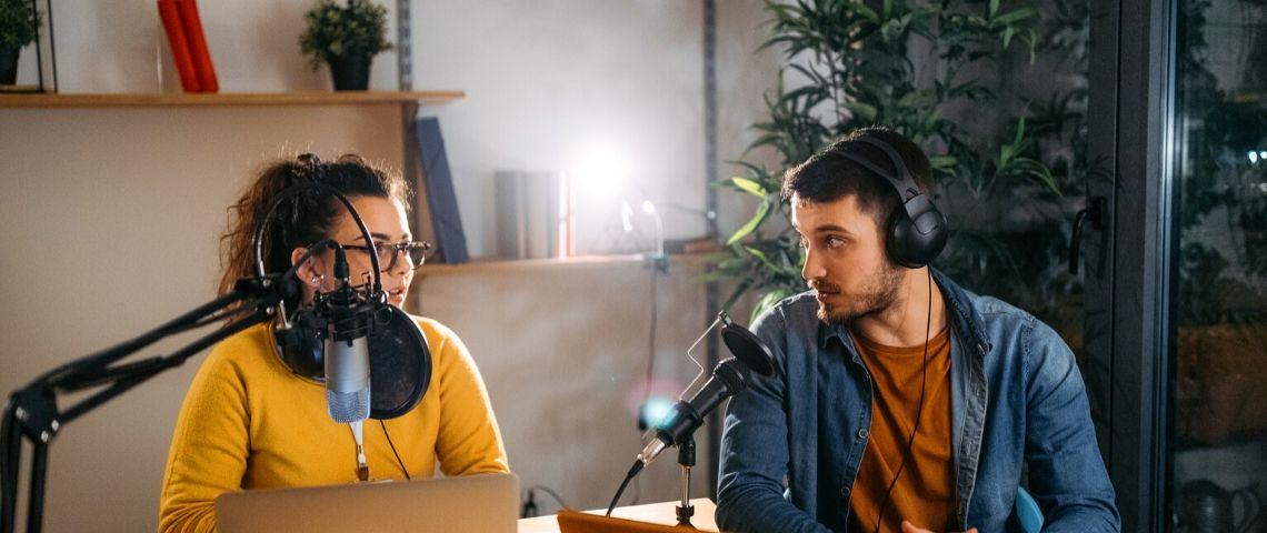 Enregistrement d'un podcast