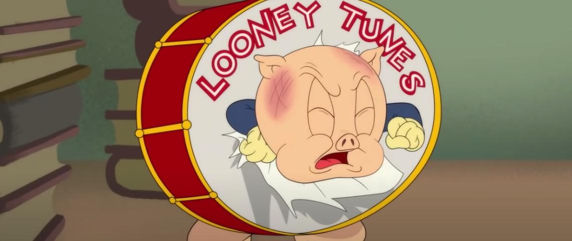 Un cochon coincé dans un tambour