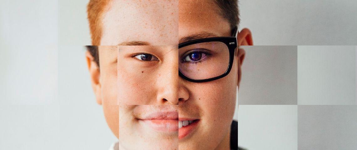 Un visage constitué de différentes images