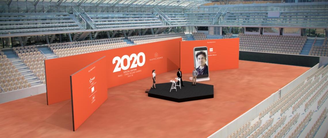 La scène des Napoleons à Roland Garros