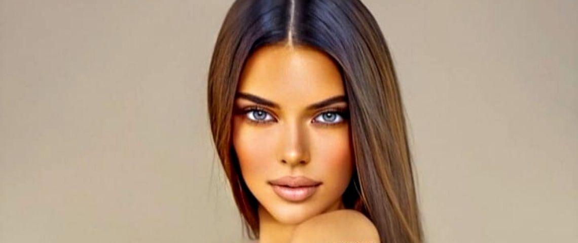 retouche d'une femme brune sur photoshop