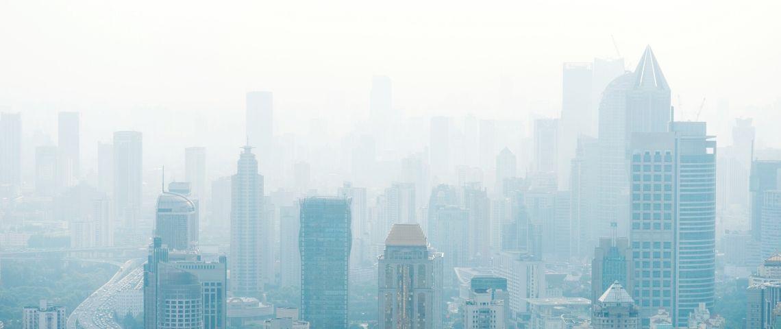 La ville de Shanghai sous la pollution