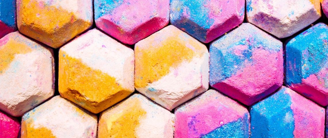 Des shampoings solides multicolores