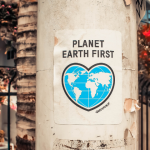 affiche planet earth first greenpeace