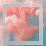 Un nuage de peinture rose