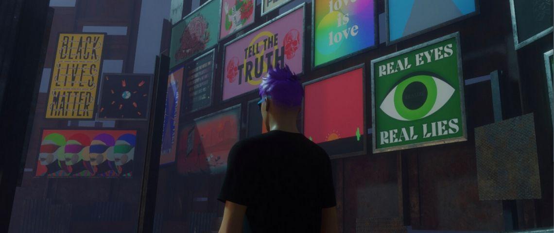 un avatar dans un monde virtuel